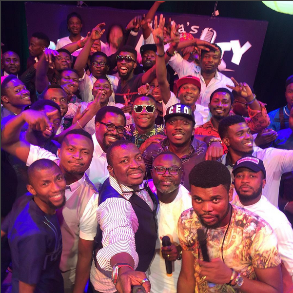 Ali Baba Shares Selfie With 'All Nigerian Male Comedians'