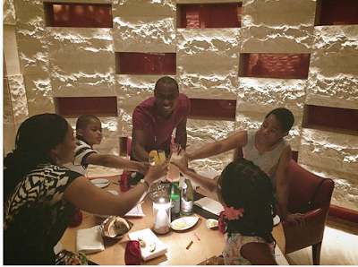 Fun Photos From Vincent Enyeama's Family Wedding Anniversary Vacation In Dubai