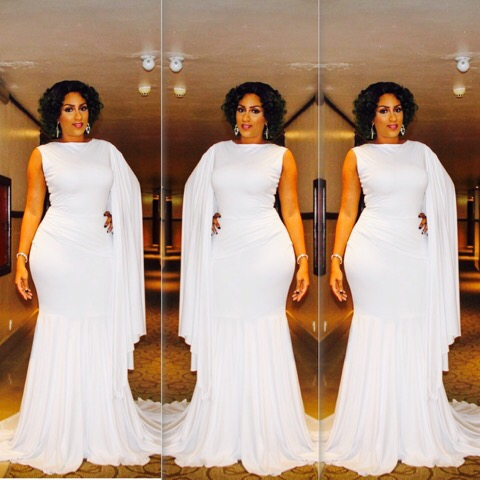 Juliet Ibrahim Hosts The Nigerian Queen Beauty Pageant In A Gorgeous White Gown