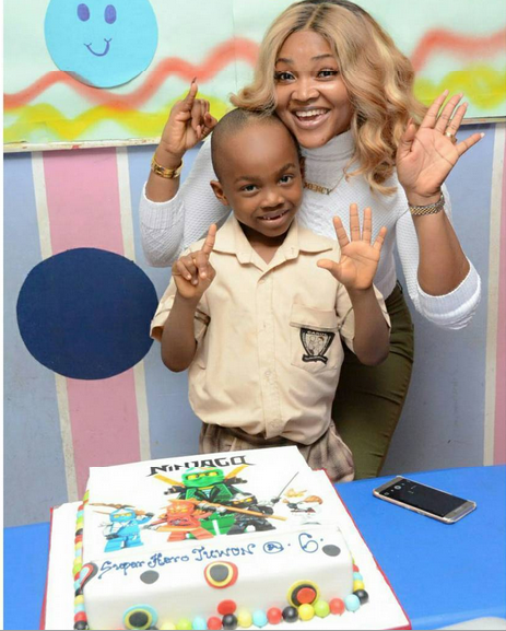Photo News: How Mercy Aigbe Celebrates Son's Birthday