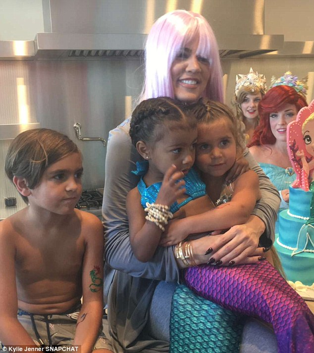 Photos: The Kardashians Celebrate North West And Penelope Disick In A Joint Mermaid-Themed Birthday Party