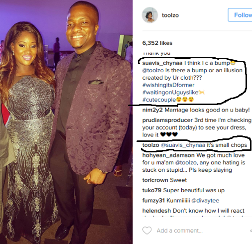 Toolz' Epic Response To Fan Who Saw Baby Bump On Her